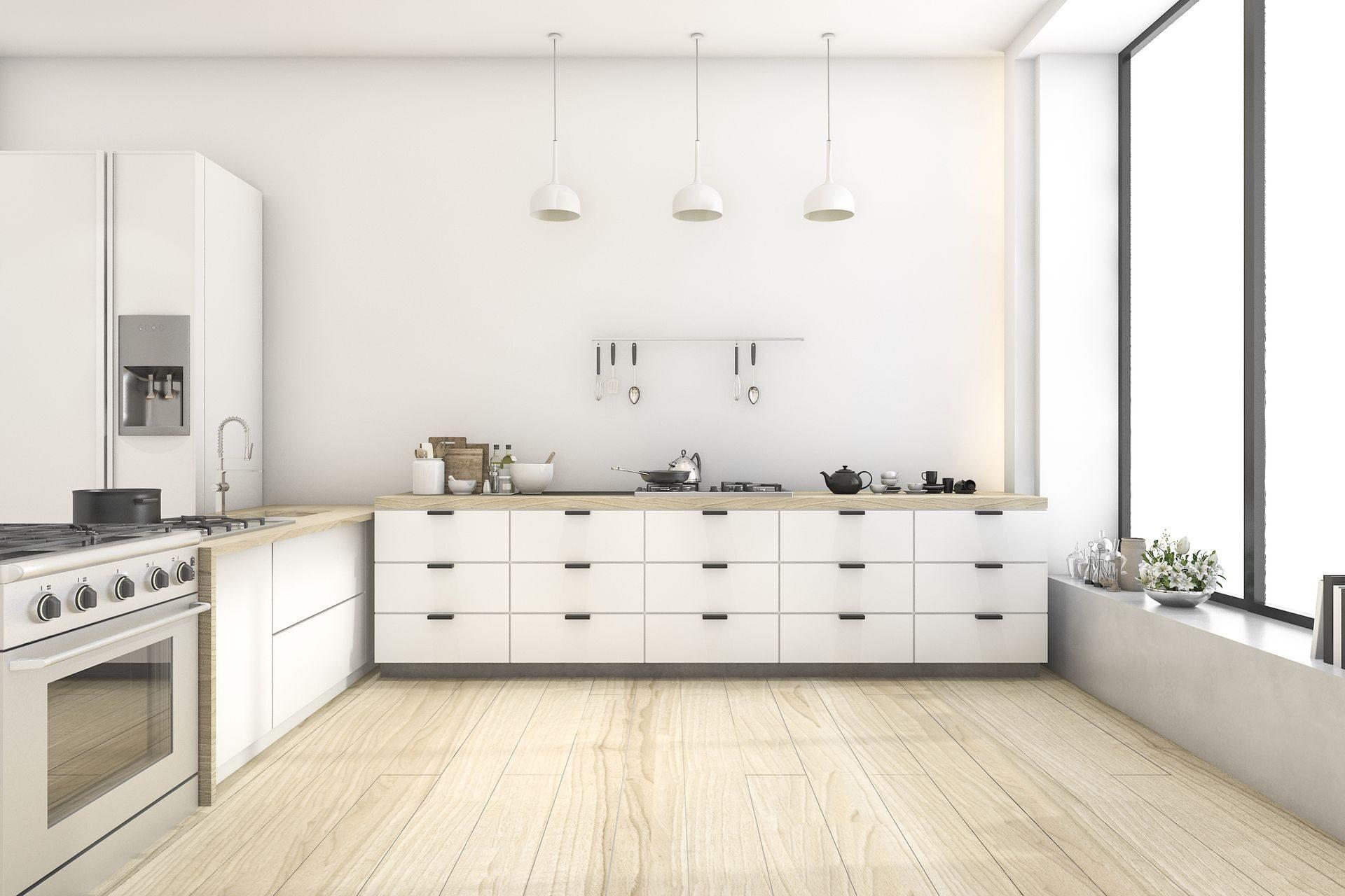 идея для интерьера кухня без верхних шкафов новости от ооо гермес